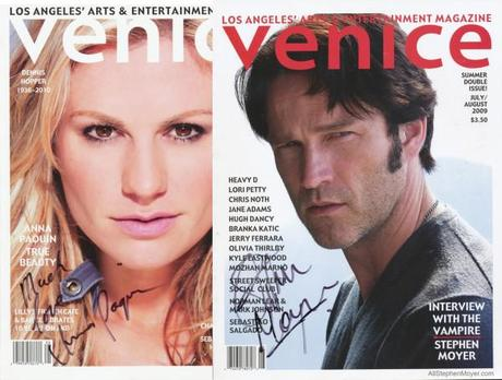 Bill & Sookie auction off Venice Magazines signed by Stephen & Anna