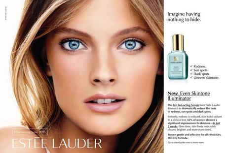 constance jablonski for estee lauder Estee Lauders Idealist Even Skintone Illuminator Ads Released