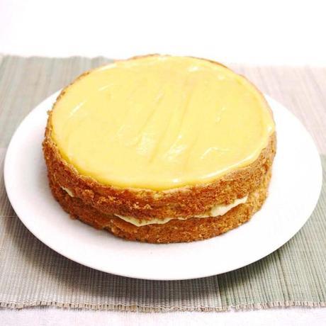 Лимонный заварной крем для бисквита