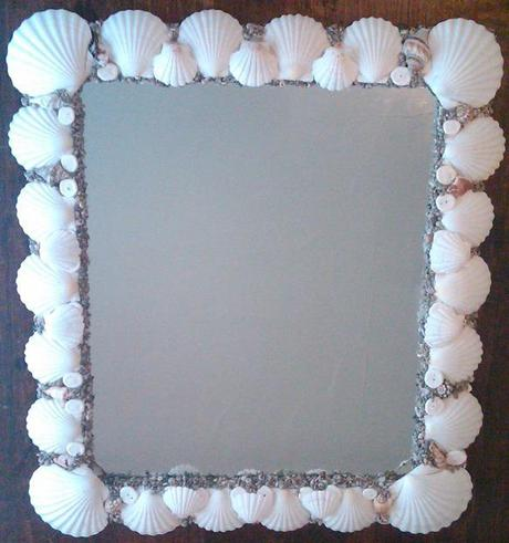 New Seashell Creations Web Site Offers Seashell Mirrors And Home Decor