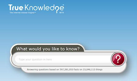 True Knowledge - The Internet Answer Engine
