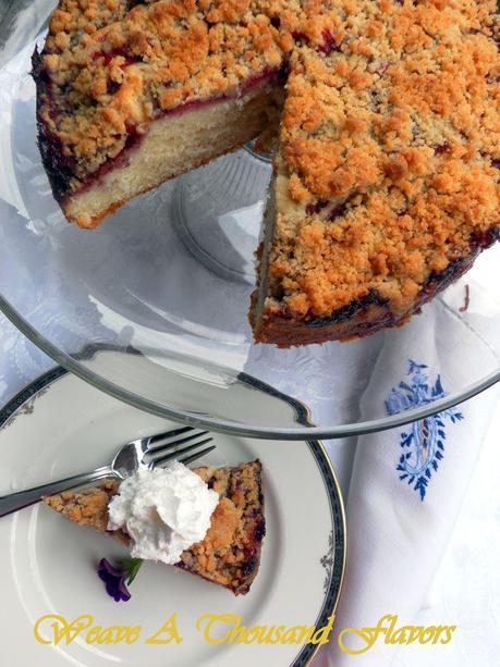 Strawberry Crumb Cake- 01