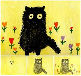 Maud Lewis Cat Painting