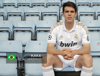 Kaka Wears 2011/2012 Real Madrid Home Kit