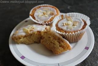 Pear and Almond Cupcakes