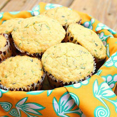 Savory polenta herbed muffins