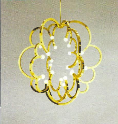 gold bubble inspired chandelier