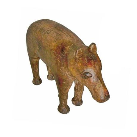 Antique hand carved animal