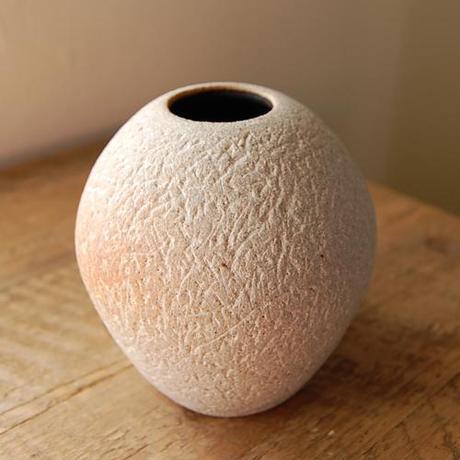 Granite Clay Vase with Black Matte Interior