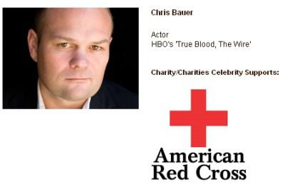 Chris Bauer pledges on new Celebrity Charity Website