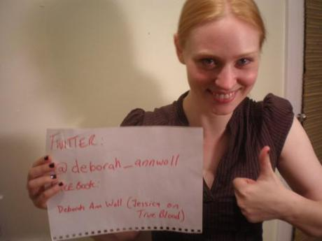 Deborah Ann Woll proofs her online identity with photo