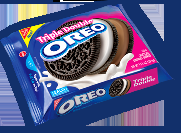 new oreos with three cookies