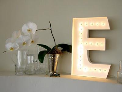 diy letter lamp ♥