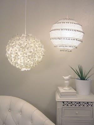 diy flower paper lantern ♥