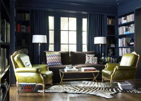 Color Inspiration- Chartreuse and Navy