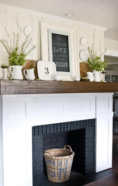 decorating fireplace mantels brick