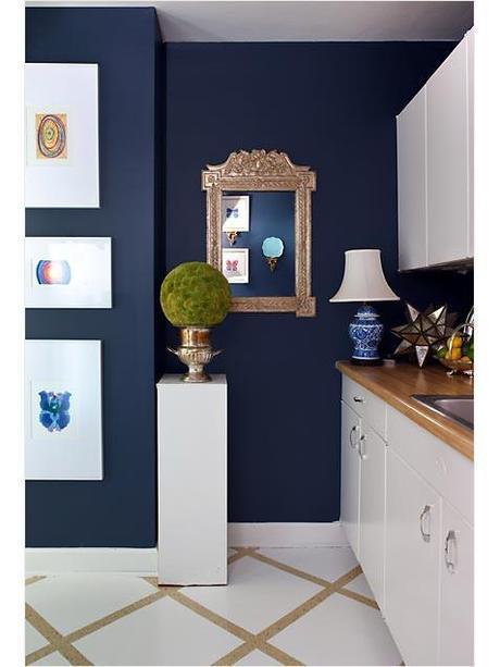 Navy Blue Walls