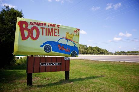 Bojangles retro car billboard
