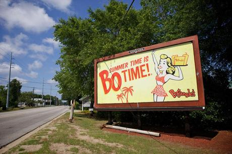 Bojangles retro girl billboard