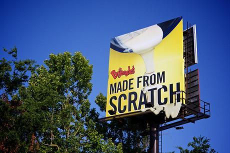 Bojangles dripping batter billboard