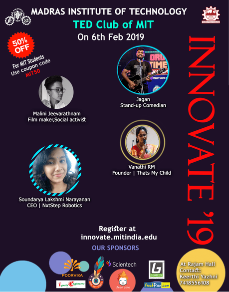 Innovate : A TED Inspired Event : MIT, Anna University
