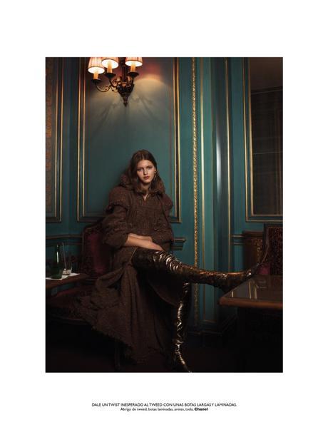 Elodie Christ in Indulgence wearing Chanel for Grazia by Benjamin Kanarek