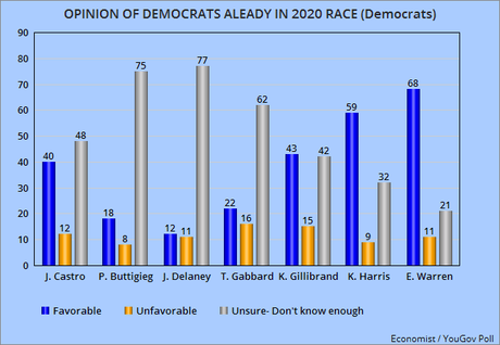None Of The Dem. Candidates Are Really Popular (Yet)
