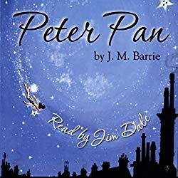 Image: Peter Pan Audible Audiobook – Unabridged, J.M. Barrie (Author), Jim Dale (Narrator), Listening Library (Publisher). Audible.com Release Date: September 11, 2006