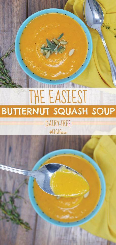 The Easiest Butternut Squash Soup (Dairy-Free)