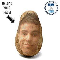 Image: Potato Pal - Your FACE on a real potato! Upload your own image. Novelty and Gag gift. As Seen On Shark Tank, by Potato Parcel