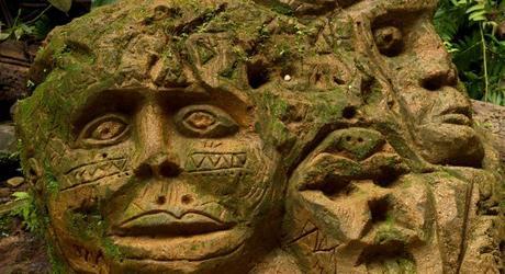 Ancient rock sculptures in the Ecuadorian Amazon