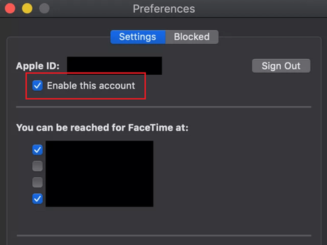 disable facetime on mac