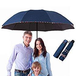 Imager: Repel Windproof Travel Large Umbrella with Teflon Coating, Reinforced Canopy, Ergonomic Handle(dark blue), by Good travel bag