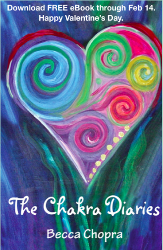 Download a FREE copy of The Chakra Diaries – on the healing power of love