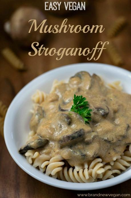 This recipe is a hack of my already popular Creamy Mushroom Stroganoff. Why change it you ask? I made it EASIER, and in my opinion, even tastier. So if you love Mushrooms and Pasta smothered in a rich, savory sour cream gravy - give my new Easy Vegan Mushroom Stroganoff a try.
