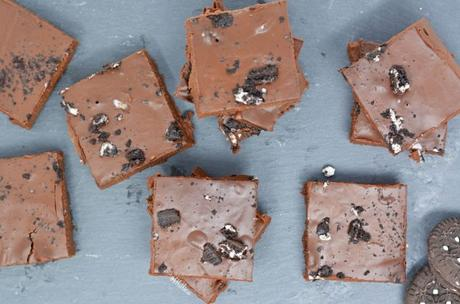 Chocolate Cookies & Cream Dairy Free Fudge (Gluten Free)