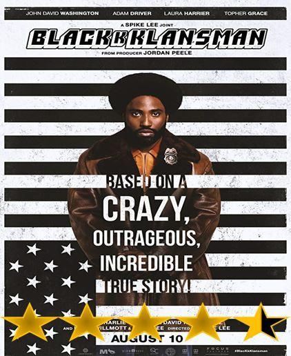 ABC Film Challenge – Oscar Nomination – K – BlacKkKlansman (2018)