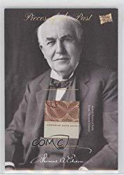 Image: Thomas Edison (Trading Card) 2018 The Bar Pieces of the Past Antiquity Edition - Relics #PR-TE28