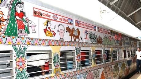 Mithila (Madhubani) livery on Train .. .. goes to Japan !!