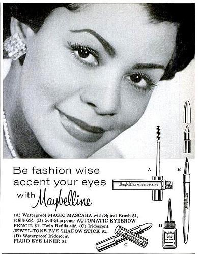 Celebrating Black History Month with Maybelline's first Black model. The first Black Model used in American cosmetic advertising up to that time in 1959