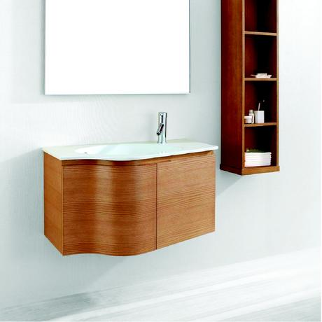 roselle single bath vanity in light oak