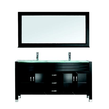 ava double bathroom vanity in espresso