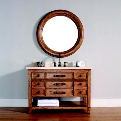 malibu single natural wood vanity