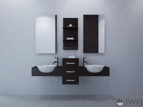 jwh living floating double vanity with vessel sinks in dark brown