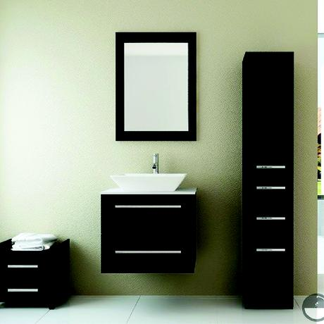 carina single bathroom vanity in espresso with stone top