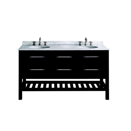 bosconi double bathroom vanity in black
