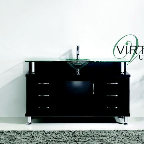 vincente single bathroom vanity in black