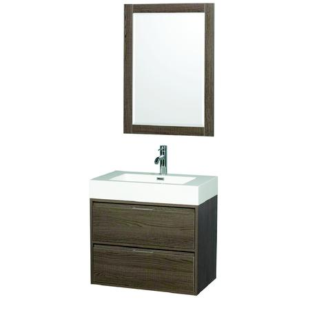 daniella single bathroom vanity in gray oak