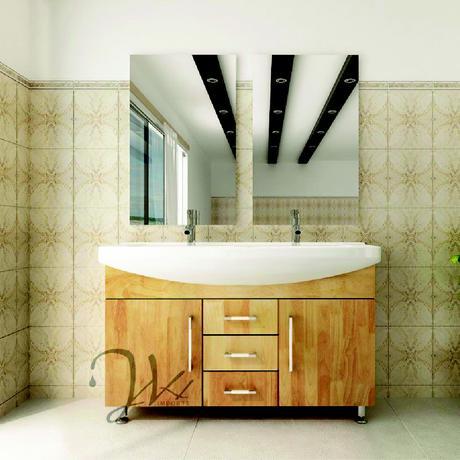 solid oak celine double standing vanity