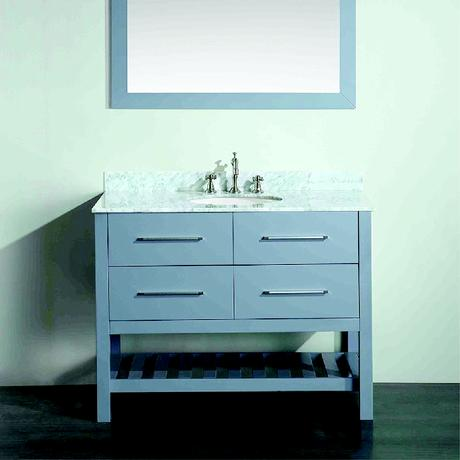 bosconi single contemporary bathroom vanity in gray